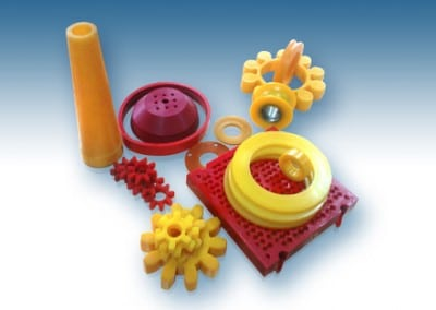 Connectors, cones, rolls, sieves and etc. from PU.